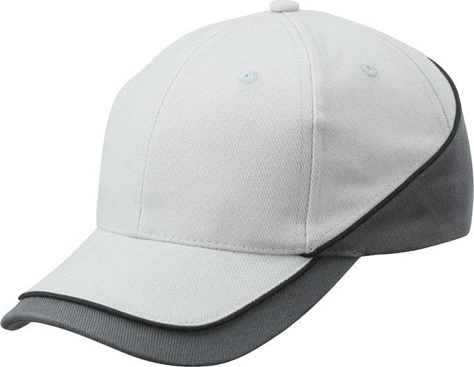 Dvoubarevná kšiltovka MB6506 - Světle šedá / tmavě šedá / černá | uni