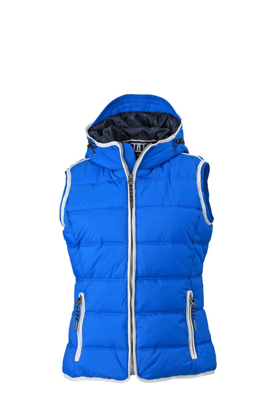 Dámská sportovní vesta JN1075 - Světle modrá / bílá | M