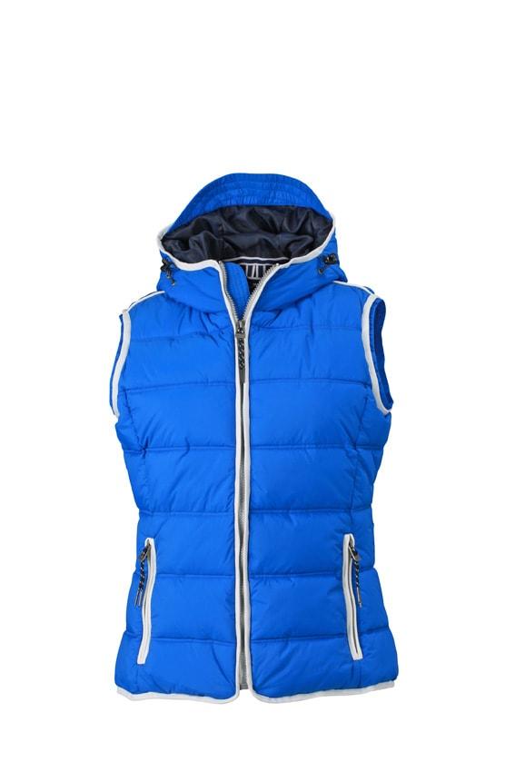 Dámská sportovní vesta JN1075 - Světle modrá / bílá | XL
