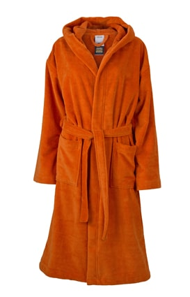 Župan s kapucí MB434 - Tmavě oranžová | M