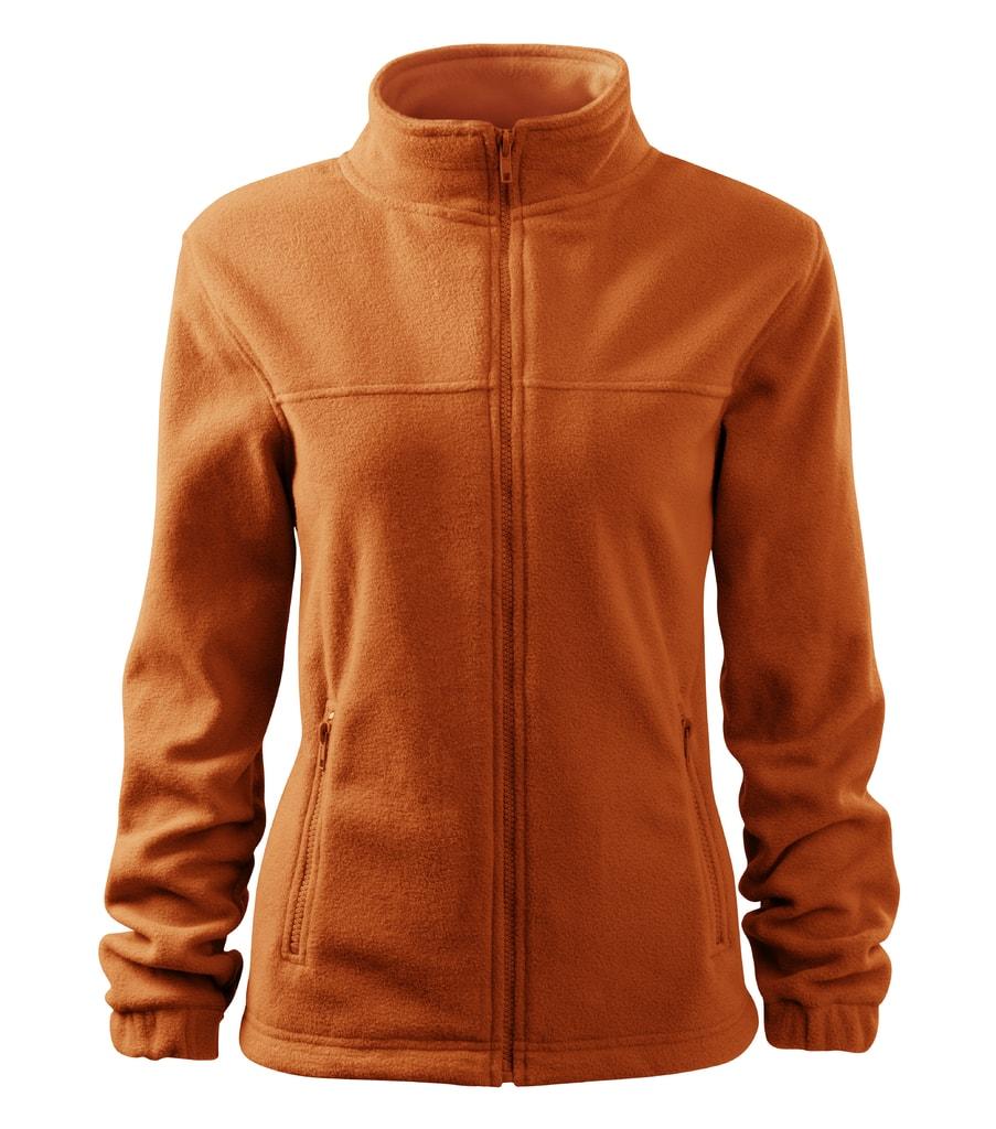 Dámská fleecová mikina Jacket - Oranžová | XL