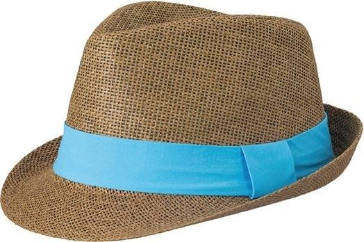 Letní klobouk MB6564 - Hnědá   tyrkysová  b4fbe1531c