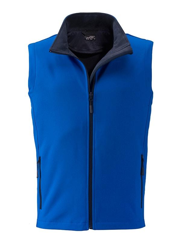 Pánská softshellová vesta JN1128 - Světle modrá / tmavě modrá | M