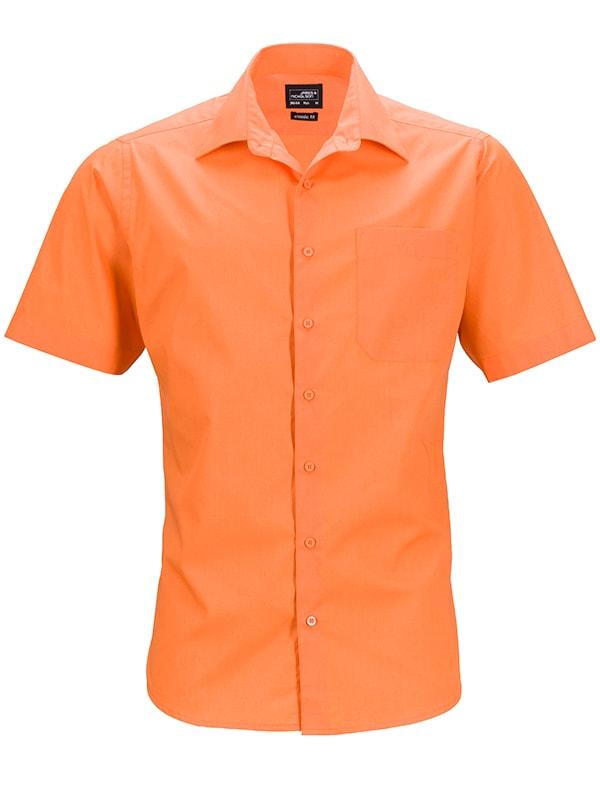 Pánská košile s krátkým rukávem JN644 - Oranžová | XXXL