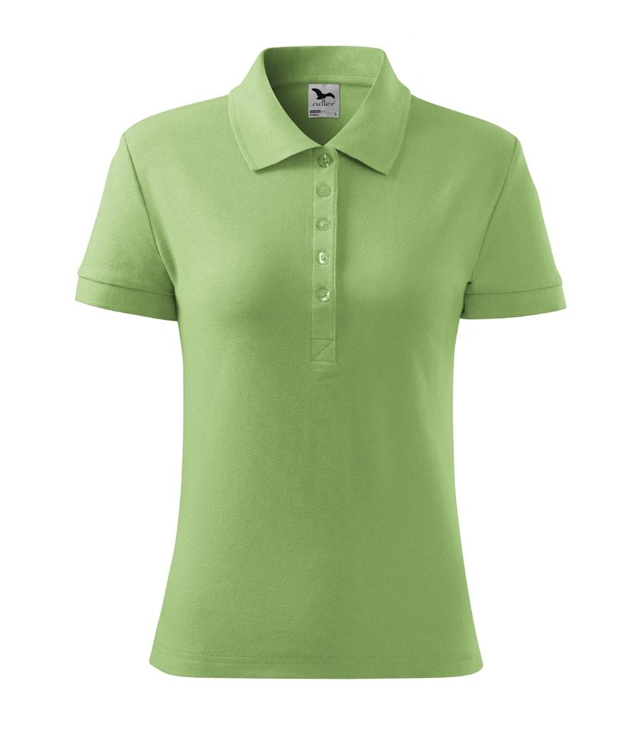 Dámská polokošile Cotton - Trávově zelená | M
