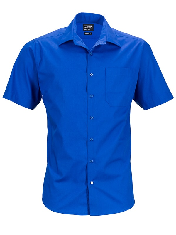 Pánská košile s krátkým rukávem JN644 - Královská modrá | XXXL