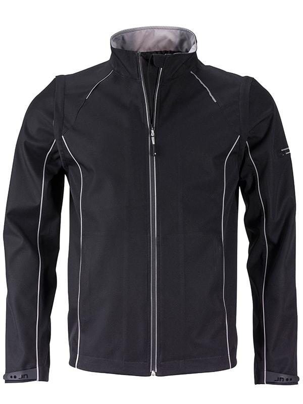Pánská softshellová bunda 2v1 JN1122 - Černá / stříbrná | L
