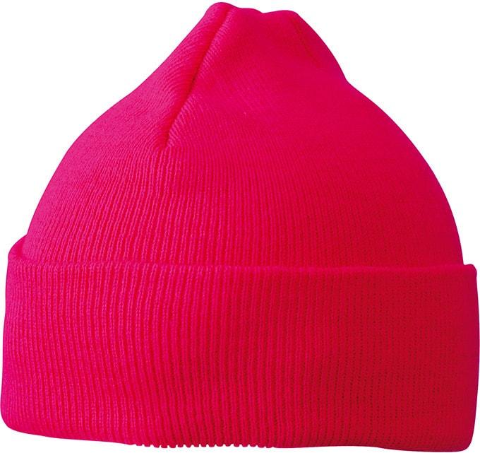 Pletená zimní dětská čepice MB7501 - Růžová | uni dětská