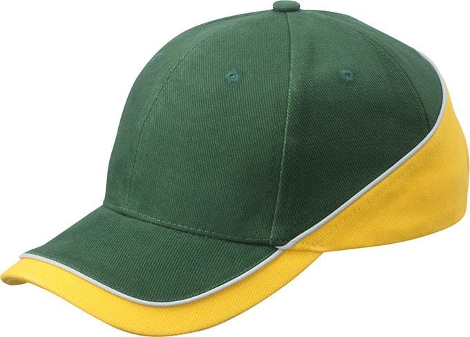 Dvoubarevná kšiltovka MB6506 - Zelená / zlatě žlutá / světle šedá | uni