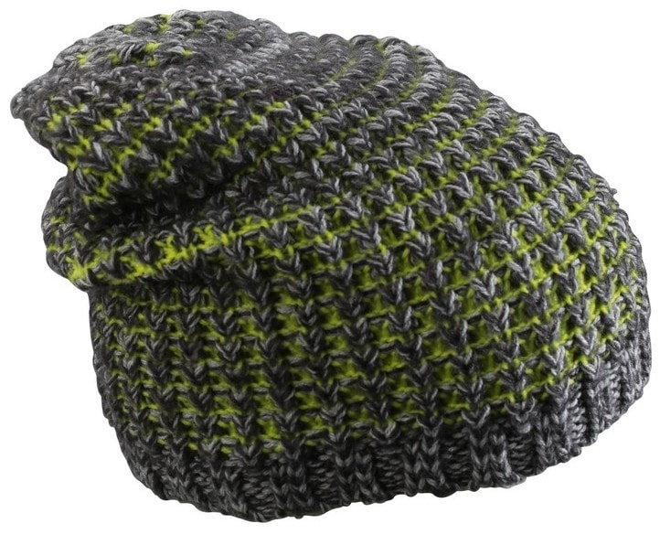 Hrubě pletená čepice MB7973 - Tmavě šedý melír   žlutozelená  1b54773387