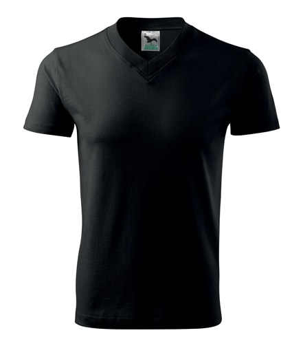 Pánské tričko V-neck Adler - Černá | XL