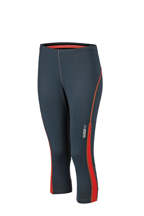 Dámské sportovní 3/4 kalhoty JN481 - Ocelově šedá / grenadina | XL