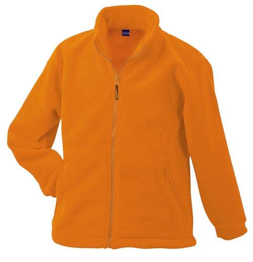 Dětská fleece mikina JN044k - Oranžová | L