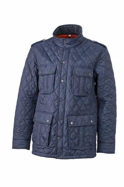 Pánská prošívaná bunda JN1072 - Tmavě modrá | XXXL
