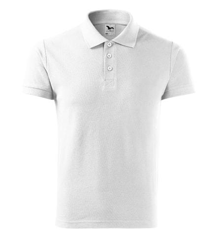 Pánská polokošile Cotton Heavy - Bílá | M