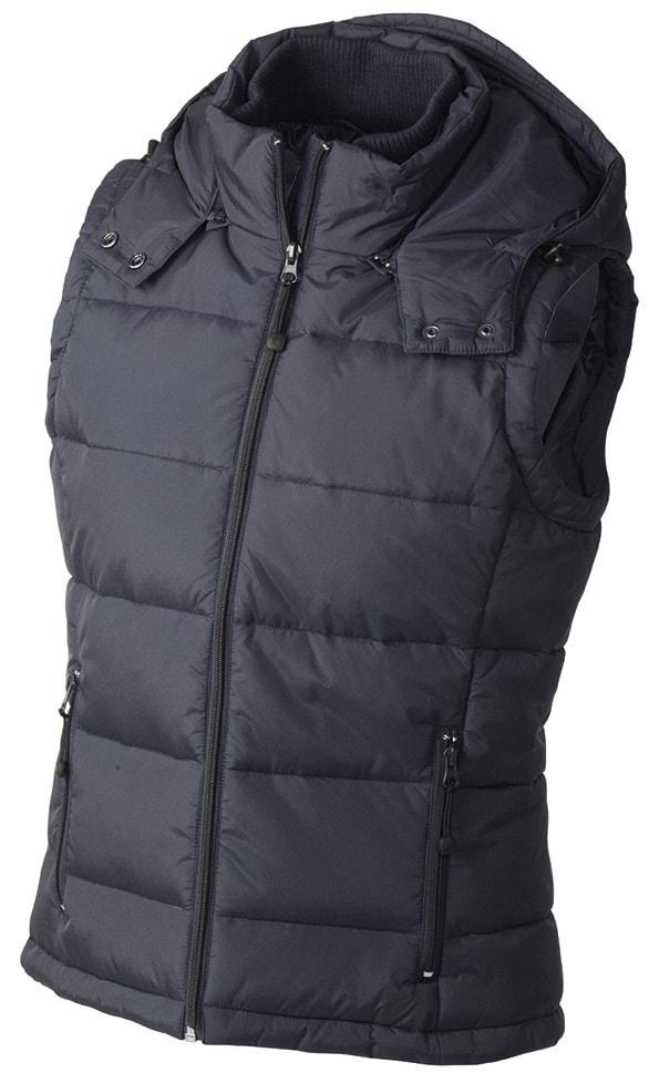 Dámská zimní vesta s kapucí JN1005 - Tmavě modrá | L