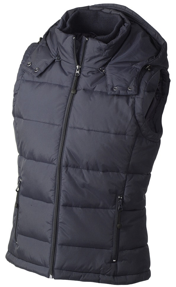Dámská zimní vesta s kapucí JN1005 - Tmavě modrá | XXL
