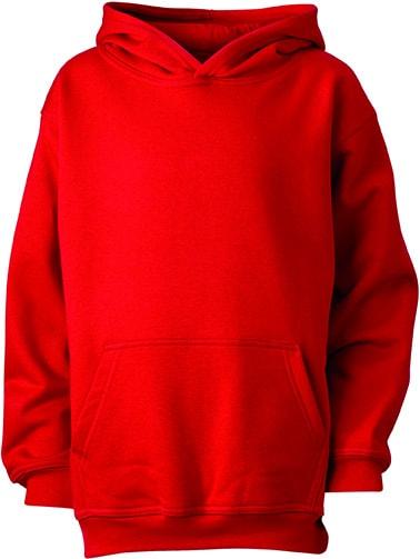 Dětská mikina s kapucí JN047k - Červená | XXL
