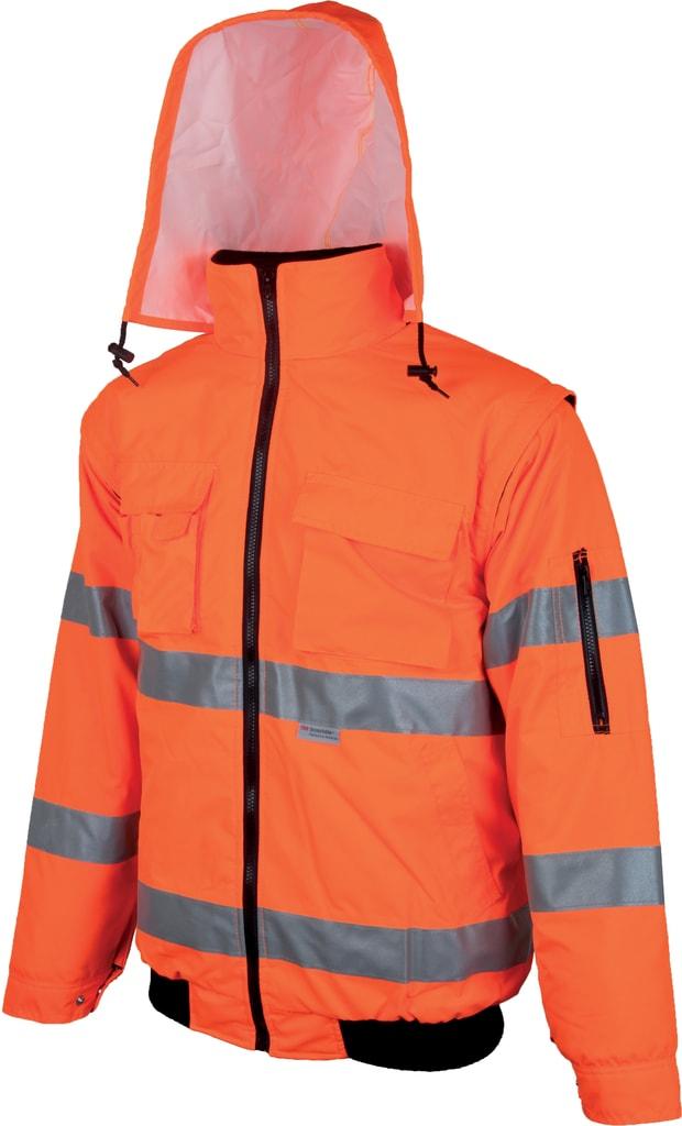 Nepromokavá reflexní bunda Howard reflex - Oranžová | M