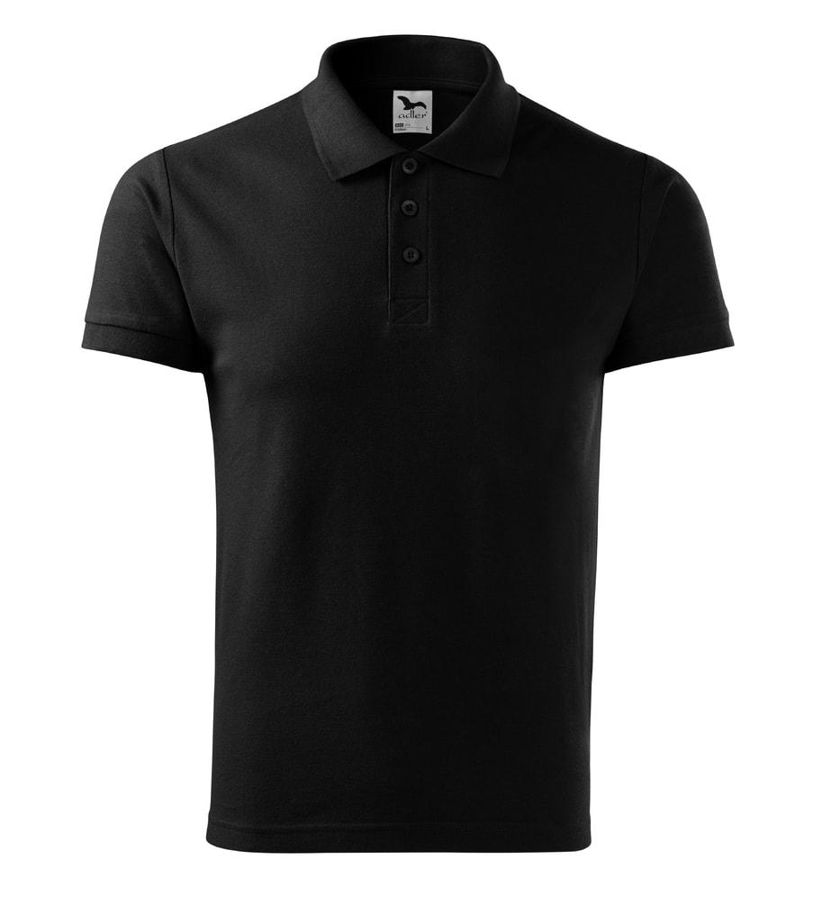 Pánská polokošile Cotton - Černá | M