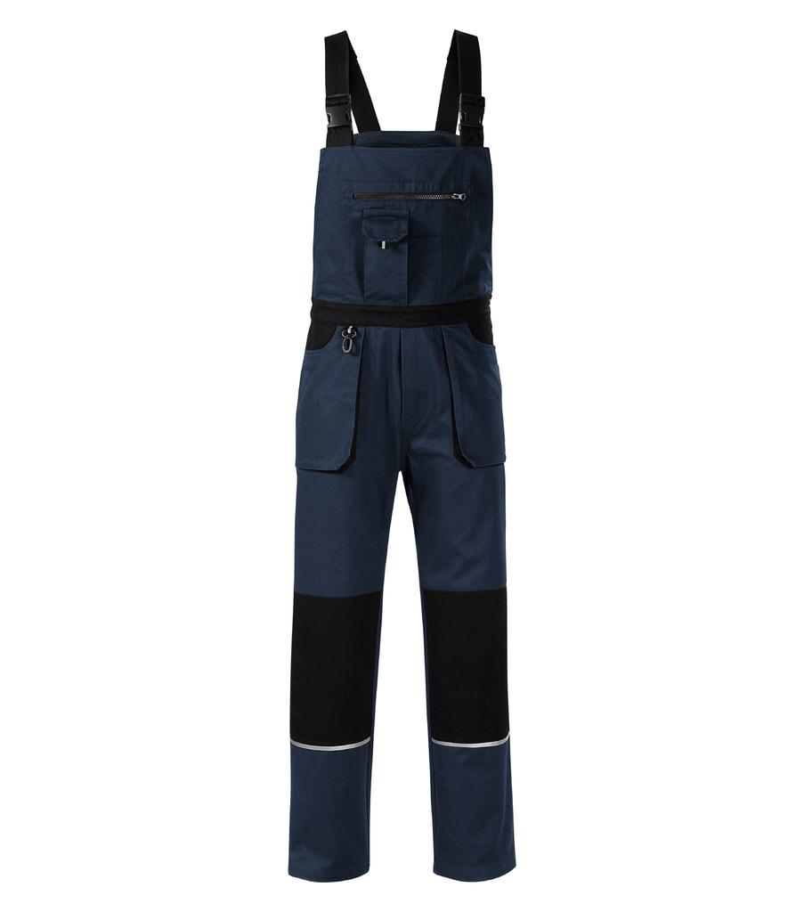 Pracovní kalhoty s laclem Woody - Námořní modrá | M