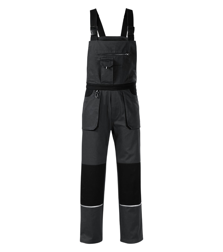 Pracovní kalhoty s laclem Woody - Ebony gray | XL