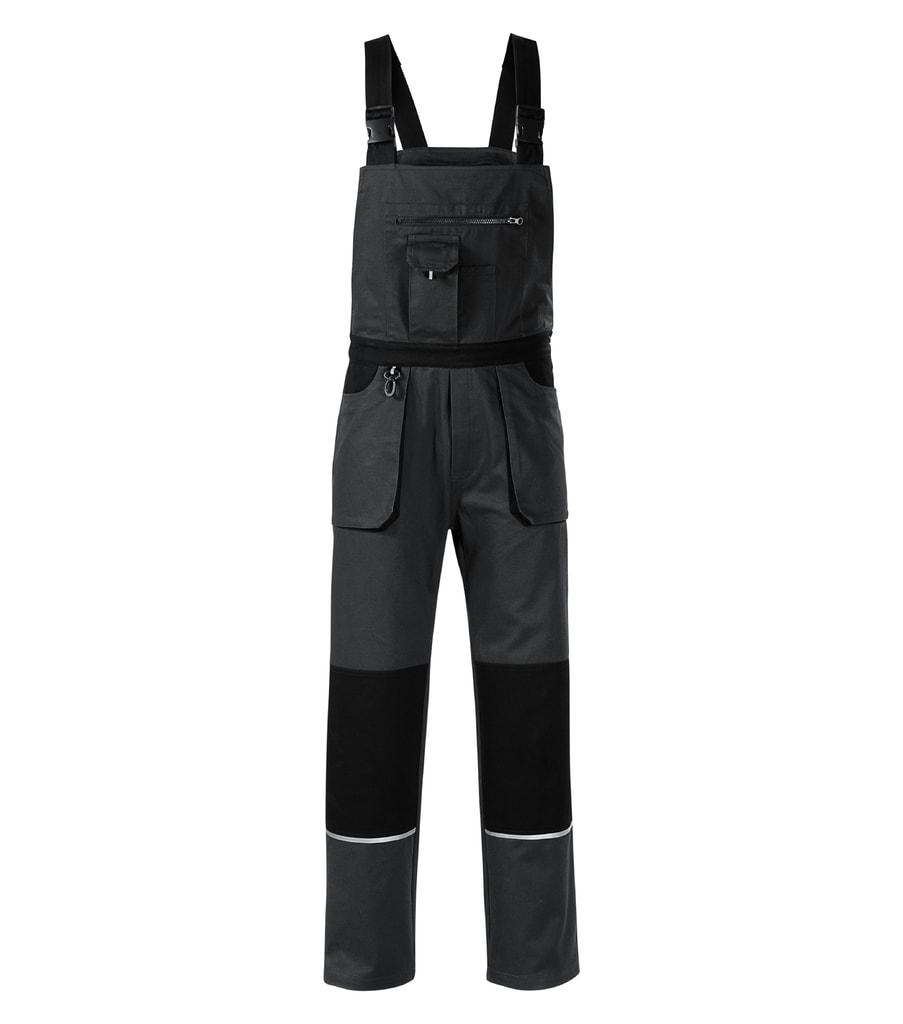 Pracovní kalhoty s laclem Woody - Ebony gray | XXL