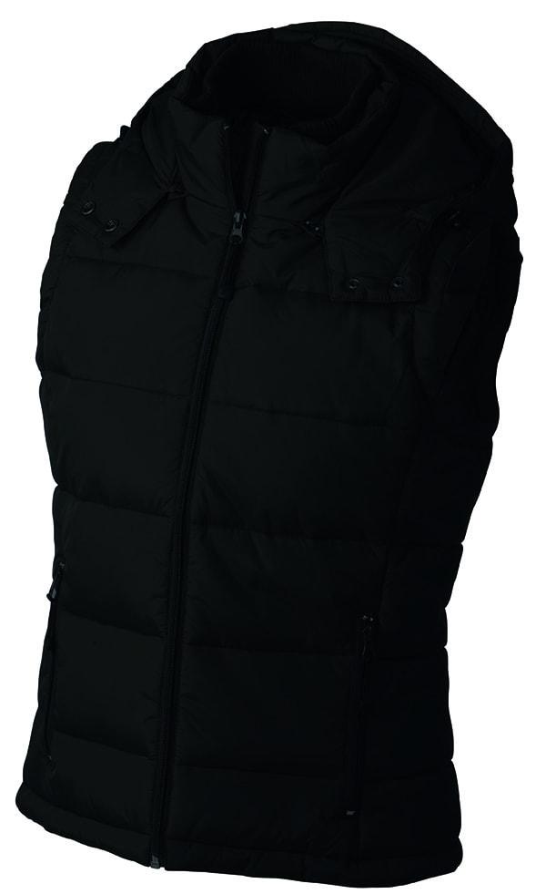 Dámská zimní vesta s kapucí JN1005 - Černá | S