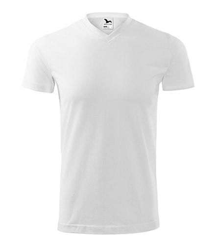 Tričko Heavy V-neck - Bílá | XXXXL