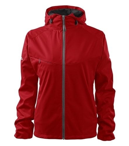 Lehká dámská softshellová bunda COOL - Červená   L