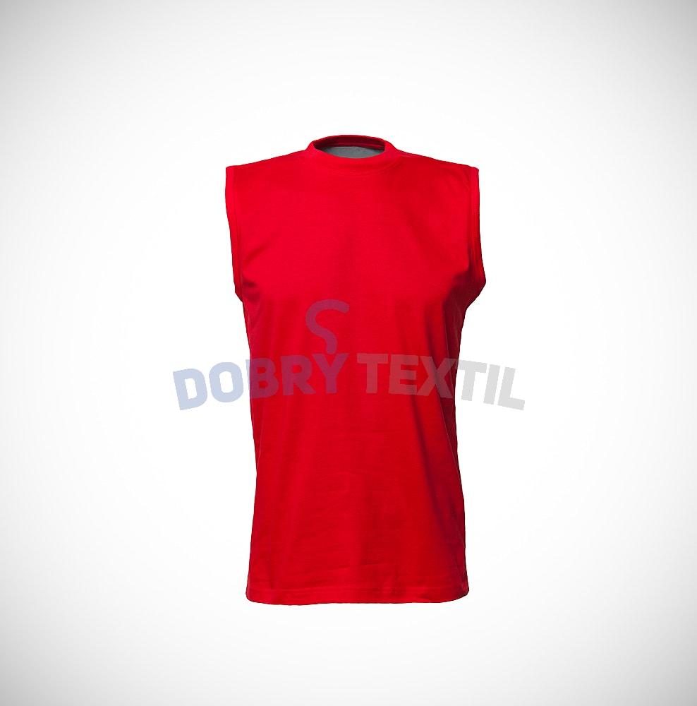 Pánské tričko bez rukávů - Červená | XXL