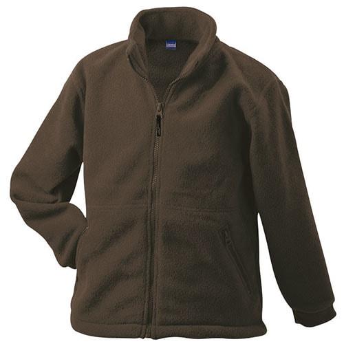 Dětská fleece mikina JN044k - Hnědá   L