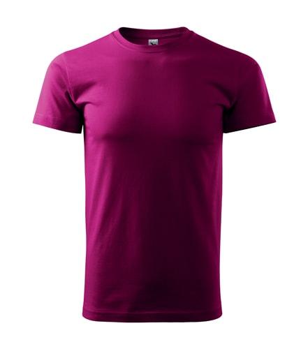 Pánské tričko Basic - Světle fuchsiová | XXXL