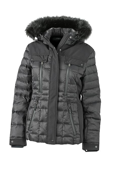 James & Nicholson Športová dámska zimná bunda JN1101 - Černá / černá   XL