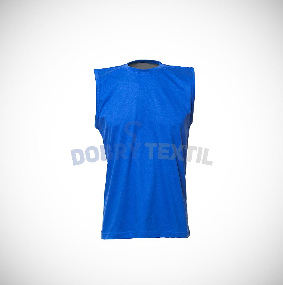 Pánské tričko bez rukávů - Královská modrá | XL