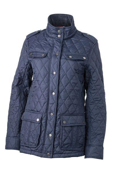 Dámská prošívaná bunda JN1071 - Tmavě modrá | XXL