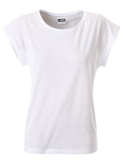 Dámské ležérní tričko z biobavlny 8005 - Bílá | XL