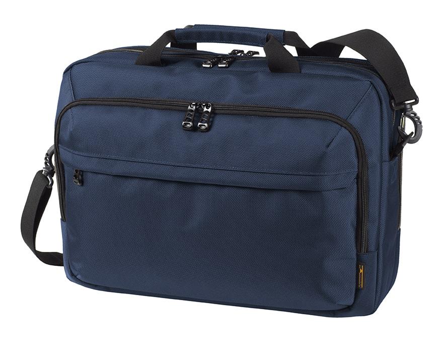 Business taška na notebook MISSION - Tmavě modrá