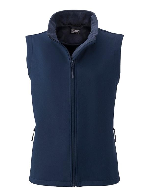 Dámská softshellová vesta JN1127 - Tmavě modrá / tmavě modrá | M