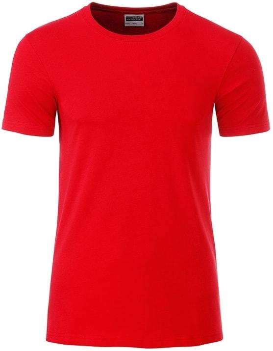 Klasické pánské tričko z biobavlny 8008 - Tomato | M