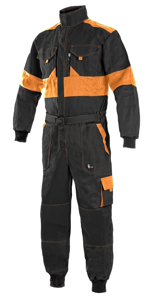 Pracovní kombinéza CXS LUXY ROBERT - Černá / oranžová   48