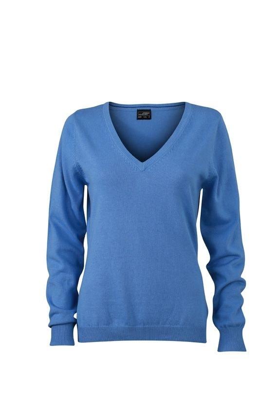 Dámský bavlněný svetr JN658 - Ledově modrá | XXL