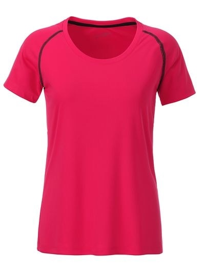 Dámské funkční tričko JN495 - Jasně růžová / titanová | XXL