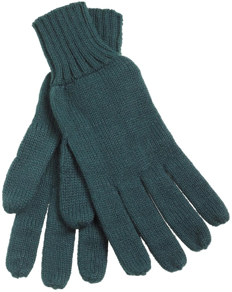 Myrtle Beach Pletené rukavice MB505 - Tmavě zelená | L/XL