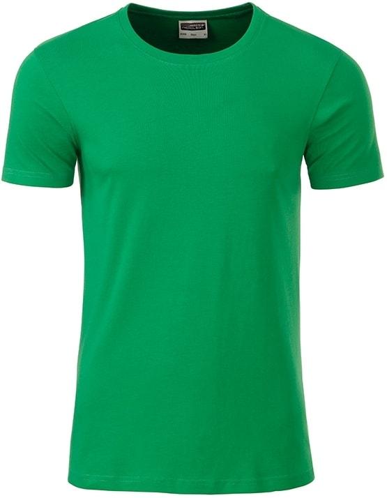 Klasické pánské tričko z biobavlny 8008 - Kapradinová | M