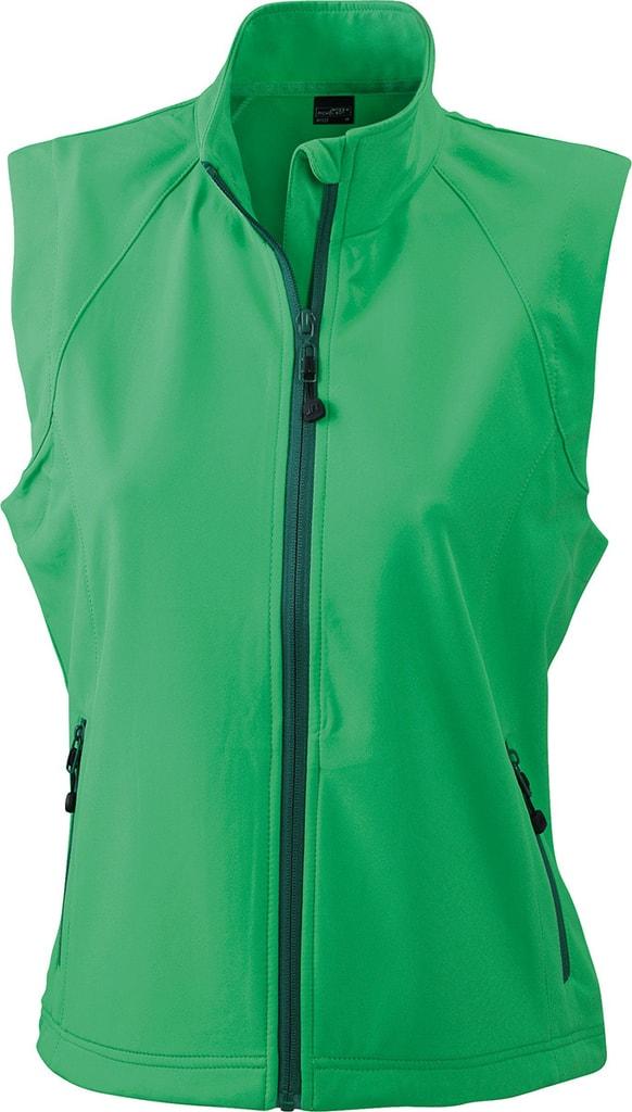 Dámská softshellová vesta JN1023 - Zelená   L