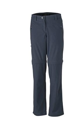 Dámské outdoorové kalhoty 2v1 JN582 - Tmavě šedá | XXL