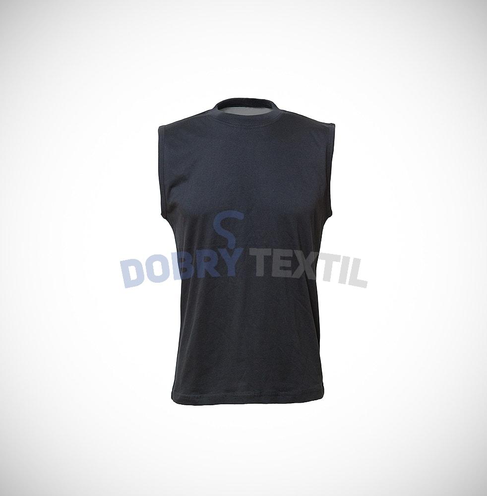Pánské tričko bez rukávů - Černá | XXL