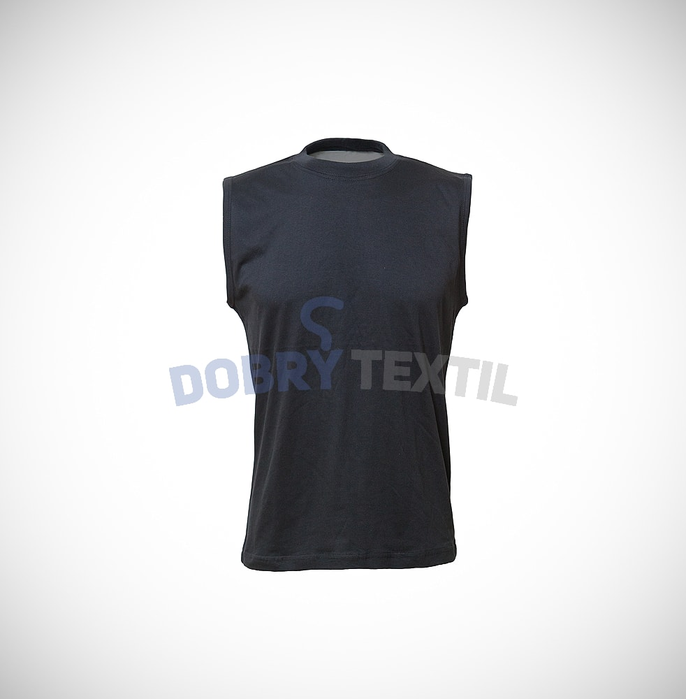 Pánské tričko bez rukávů - Černá | XXXL