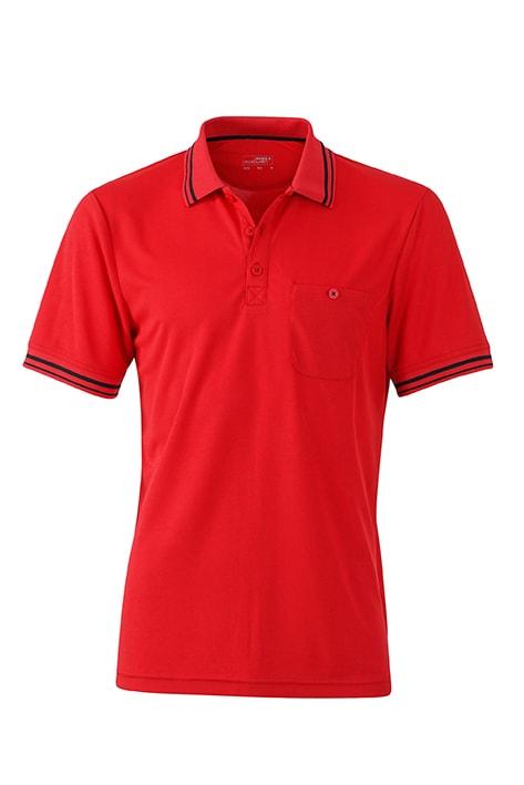 Pánská sportovní polokošile JN702 - Červená / černá | XL